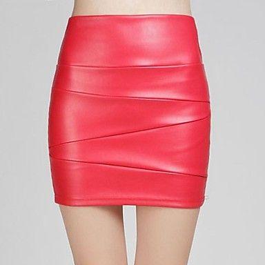 sagetech @ voorzien van vrouwen hoge taille korte lederen rokken (meer kleuren) - EUR € 14.99