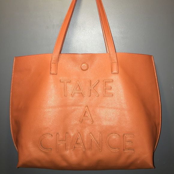 1 DAY SALE Take A Chance Tan Bag Unique. Brand new Bags Totes
