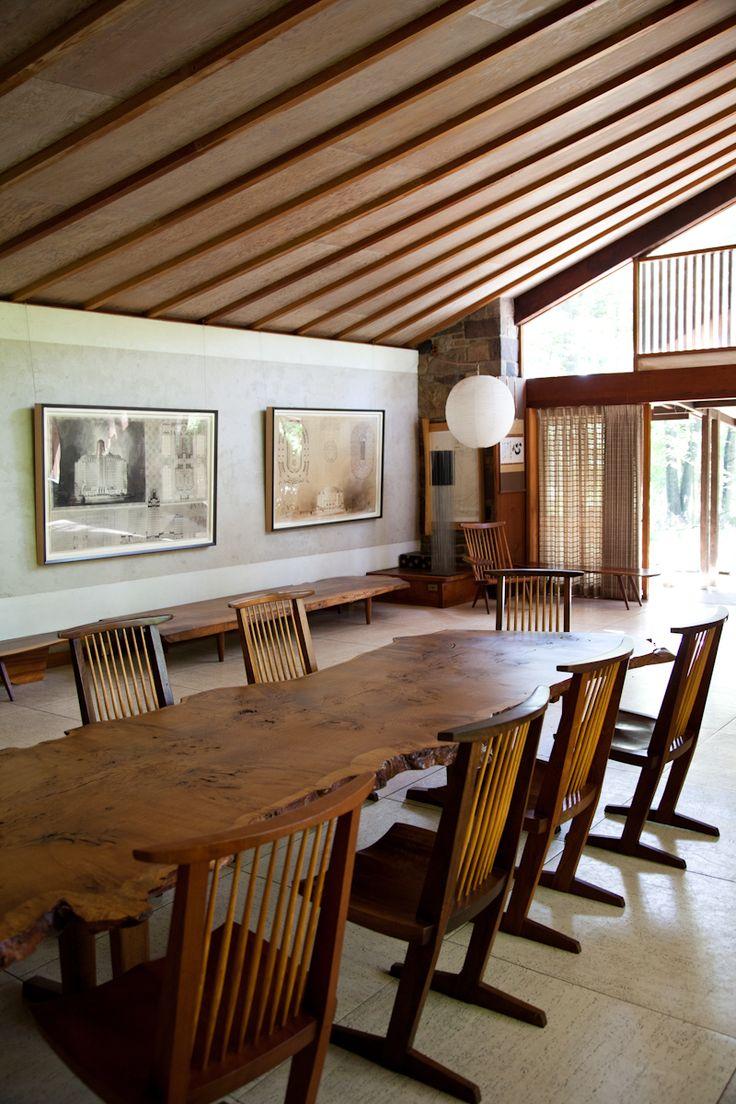Nakashima studio, sloping ceiling