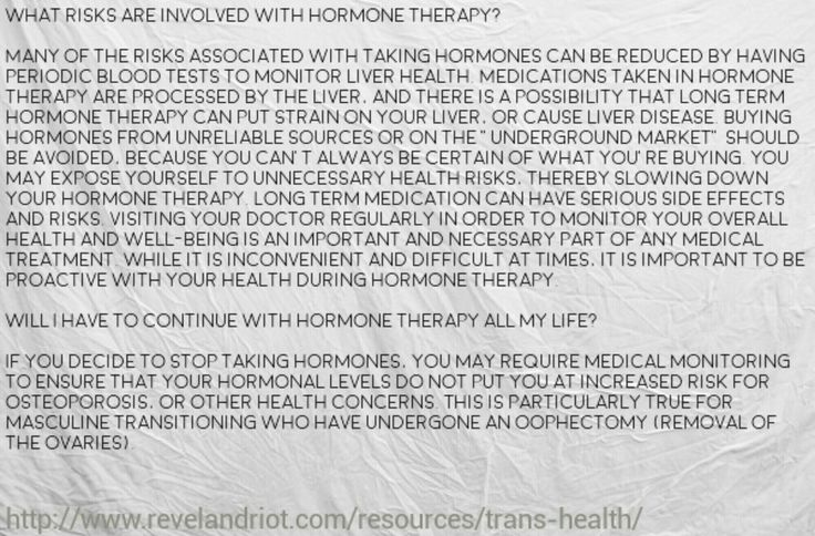 FtM Hormone Therapy Risk