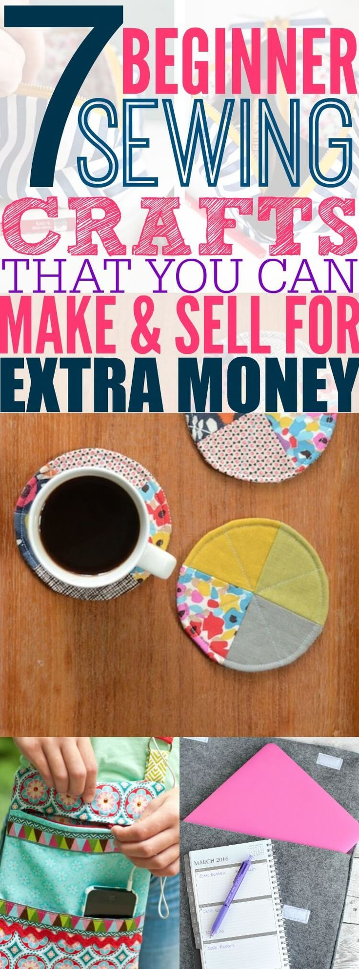If you are looking for a new hobby and side hustle, then check out this list of 6 sewing crafts that any beginner can make and sell. These projects are easy for you to make and cute enough for you to sell.