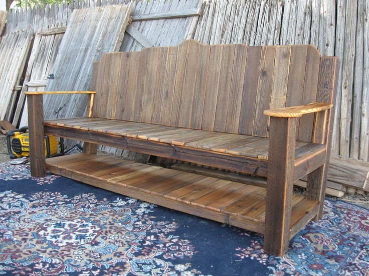 wood fence craft projects | ... fence,6`rustic garden bench and miscellaneous routed wood signage