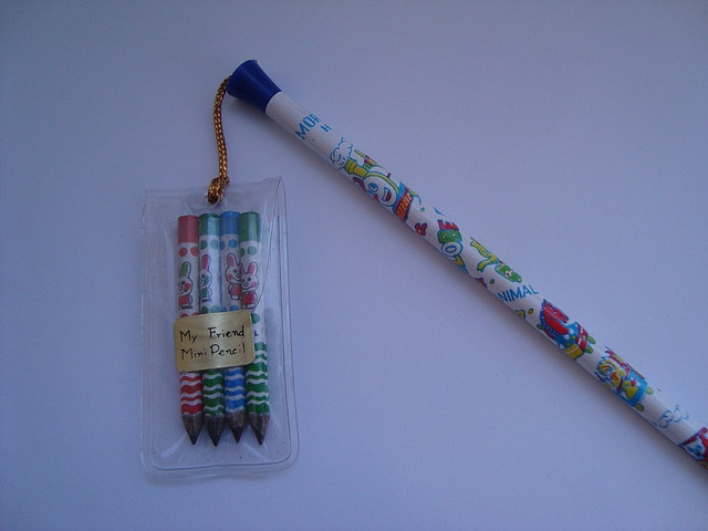 80s pencils with the mini pencils! I remember using a mini pencil at least once through sheer need of a pencil.