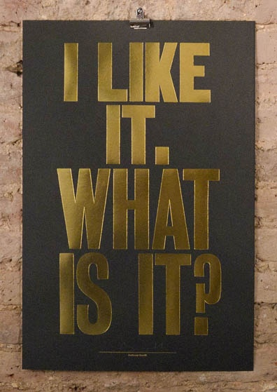 anthony burril 'i like it what is it' - special edition www.nellyduff.com