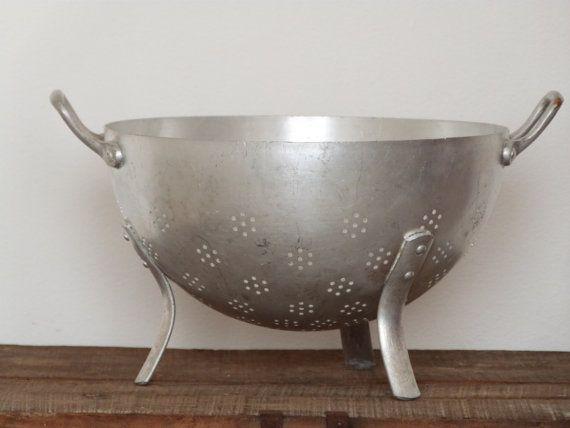 Francesa cocina francesa de colador - colador francés - Vintage - aluminio