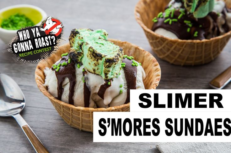 28 best recipe contests images on pinterest recipe contests slimer smores sundaes with campfire ghostbuster marshmallows forumfinder Choice Image