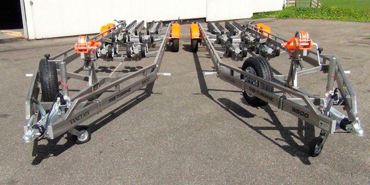Remolques galvanizados para barcos