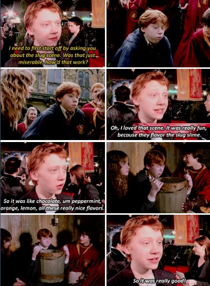 Rupert Grint talks Slug Scene in Chamber of Secrets. (2002)