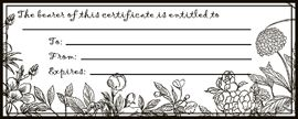 printable blank gift certificates in lots of various patterns - good for guys and gals