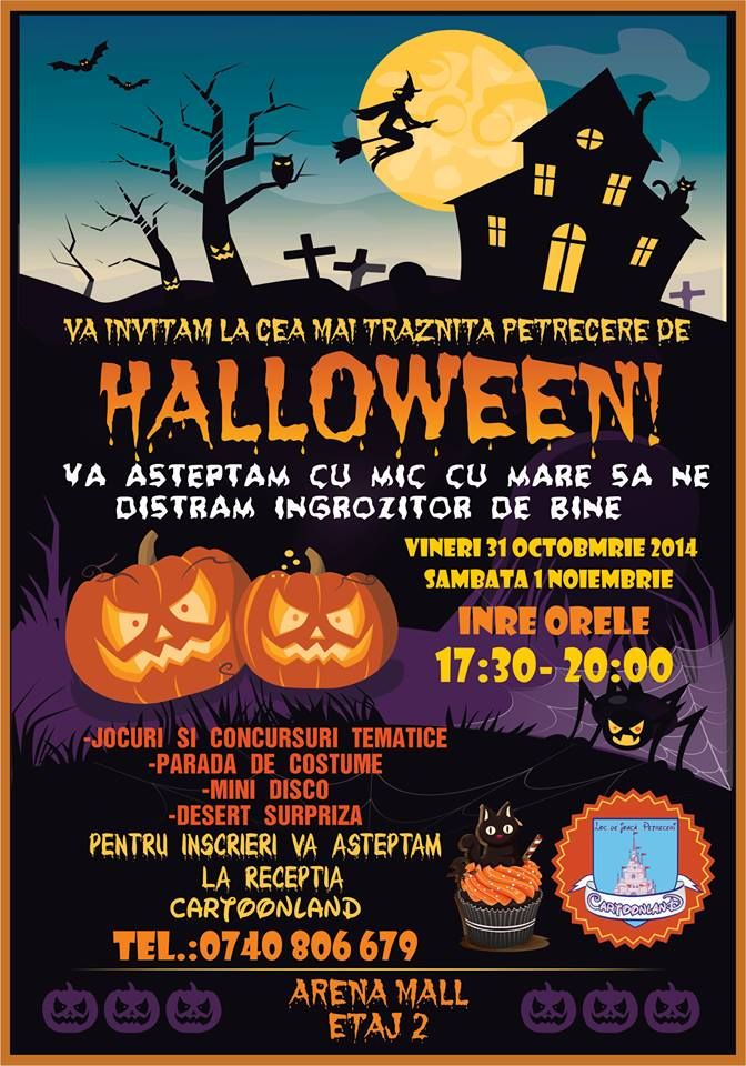 HAPPY HALLOWEEN @ Cartoonland! 31.10-01.11.2014 | Arena Mall Bacău