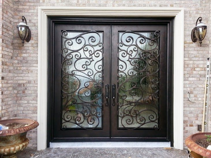 We Love The Custom Iron Scroll Work On This Recent Install. Front Door. Iron
