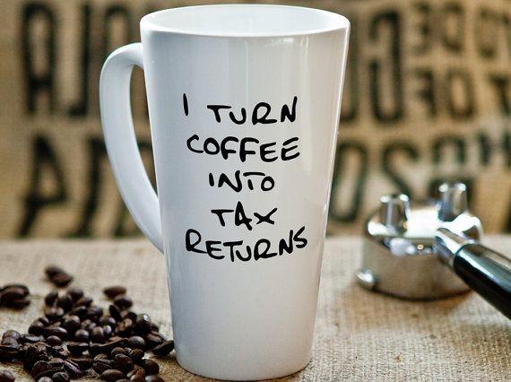 Accountant Gift Latte Mug Gifts for Accountants by PhotoCeramics