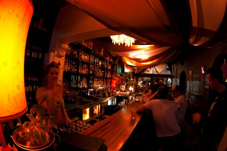 A well stocked bar and a warm Fitzroy crowd.