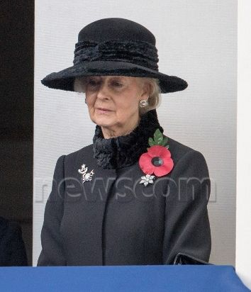 "Princess Alexandra of Kent attended a Remembrance day service at the Cenotaph, Her Majesty laid a wreath, followed by the members of the Royal Family, the Prime Minister, Theresa May, the leader of the opposition Jeremy Corbyn and foreign Secretary Boris Johnson The Duchess of Cambridge, The Duchess of Cornwall and The Countess of Wessex looked on from the balcony. Material must be credited ""The Sun/News Syndication"" unless otherwise agreed. 100% surcharge if not credited."