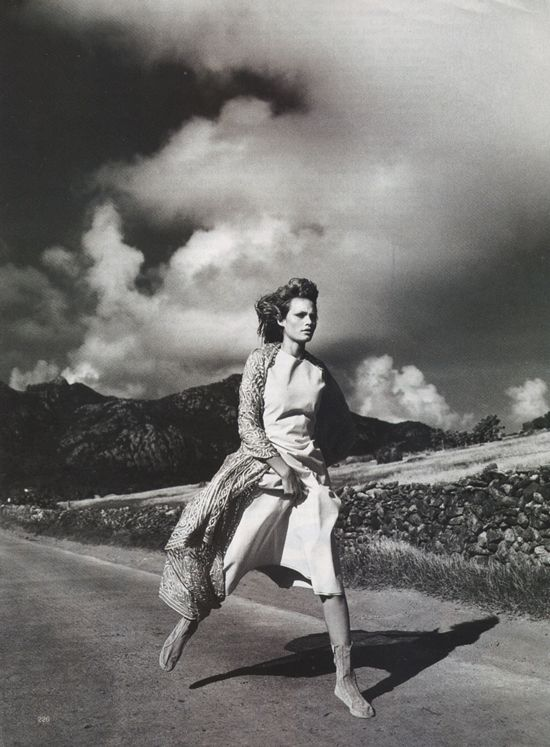 Amber Valletta in Free Spirit editorial, Harper's Bazaar ...