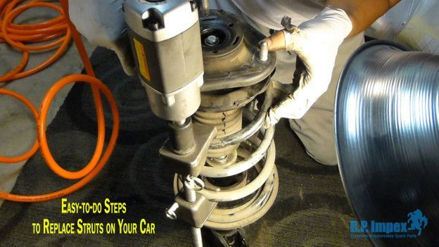 Vehicle's strut replacement is not a common repair. They usually last long up to 100, 000 miles, after which they do need replacement due to common wear. The experts of the largest Suzuki Car Spare Parts dealers have put together steps to replace front st