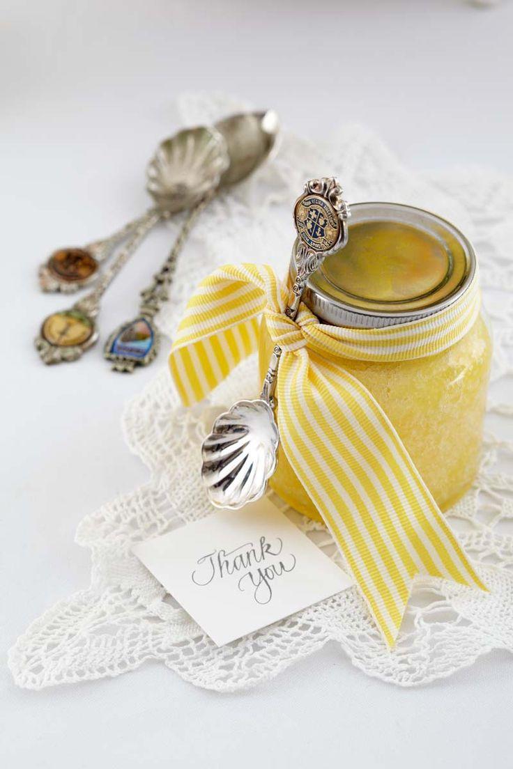 DIY Wedding Bomboniere -  Lemon Hand Scrub