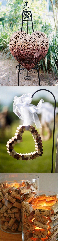 wedding decoration ideas with wine corks #weddingideas #weddingdecor #weddingtrends #weddingthemes #vineyardwedding #weddingaisle #weddingceremony