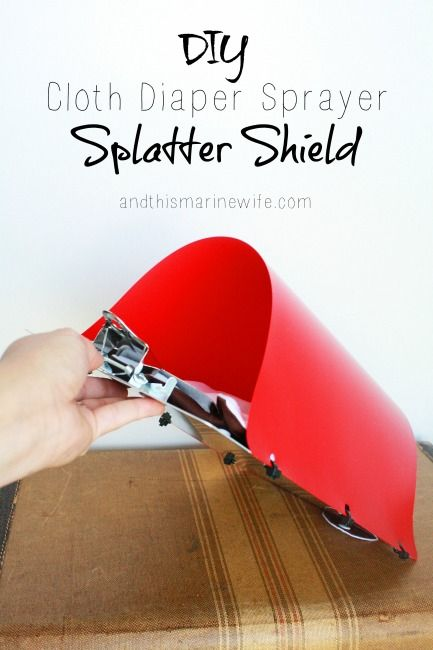 DIY Cloth Diaper Sprayer Splatter Shield - Want less mess for a better price? Make your own cloth diaper sprayer splatter shield, using my DIY tutorial! You can save over half the price of a commercially-made diaper sprayer splatter shield and get more use out of it! Click ahead to see how your can make your own: http://andthismarinewife.com/2015/06/diy-cloth-diaper-sprayer-splatter-shield.html