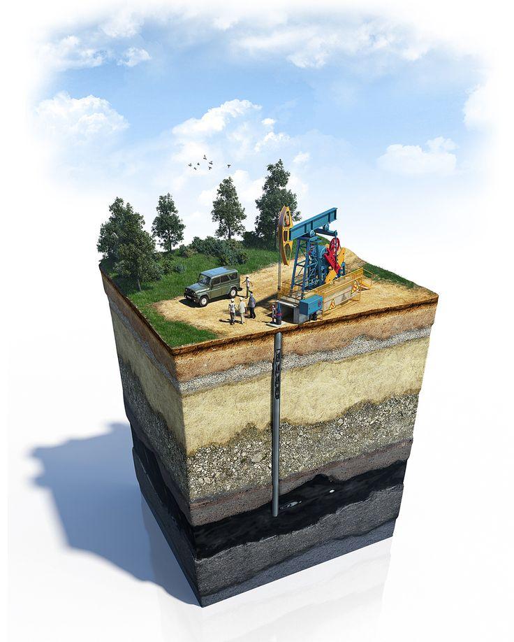 Oil, gas on Behance