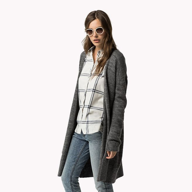 Hilfiger Denim Wollen Vest - pewter heather (Grijs) - Hilfiger Denim Vesten - hoofdbeeld