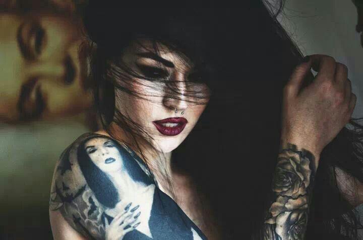 Vampira Tattoo Vampira tattoo, red li...