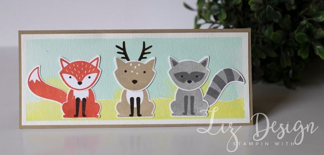 Stampin Up Foxy Friends Card by Stampin with Liz Design