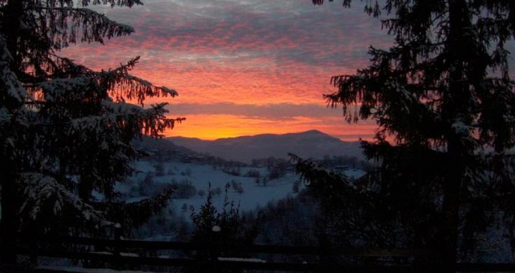 Tramonto in montagna.Italy