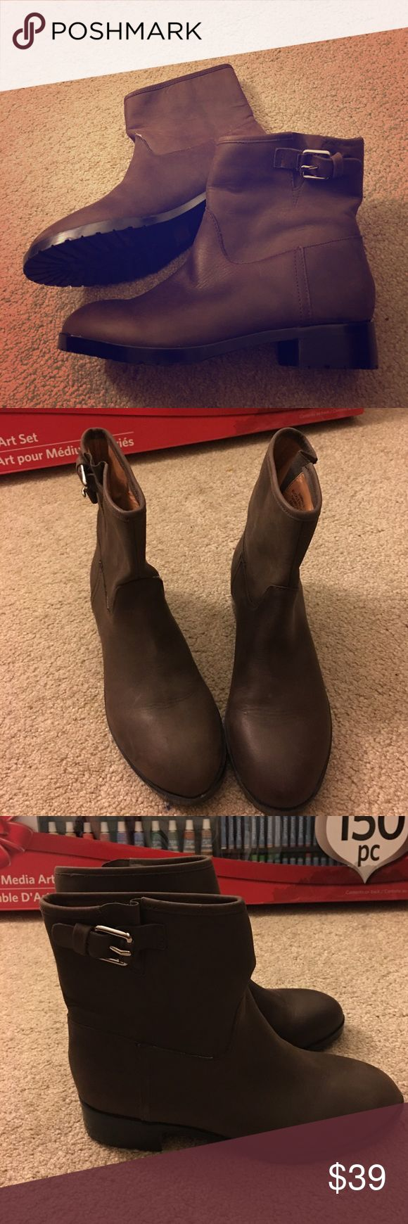 Gap Genuine Leather Booties Brand new never worn,  just tried on.  Gorgeous comfy and stylish! 1 inch boot heel. GAP Shoes Ankle Boots & Booties