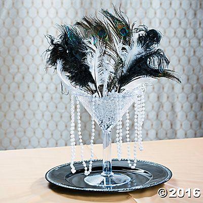 Roaring 20s / The Great Gatsby Centerpiece Idea #decor