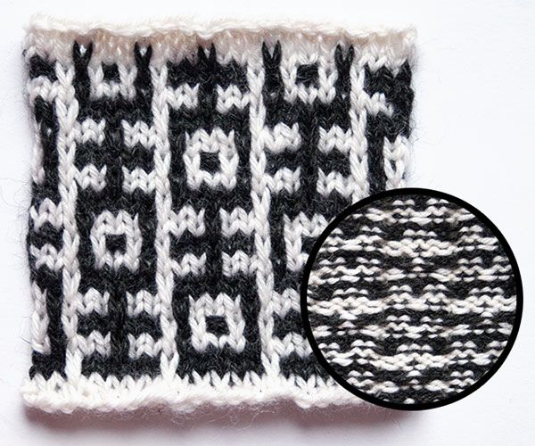 """""""Give Them the Slip: In Defense of Mosaic Knitting,"""" an article from Twist Collective."""