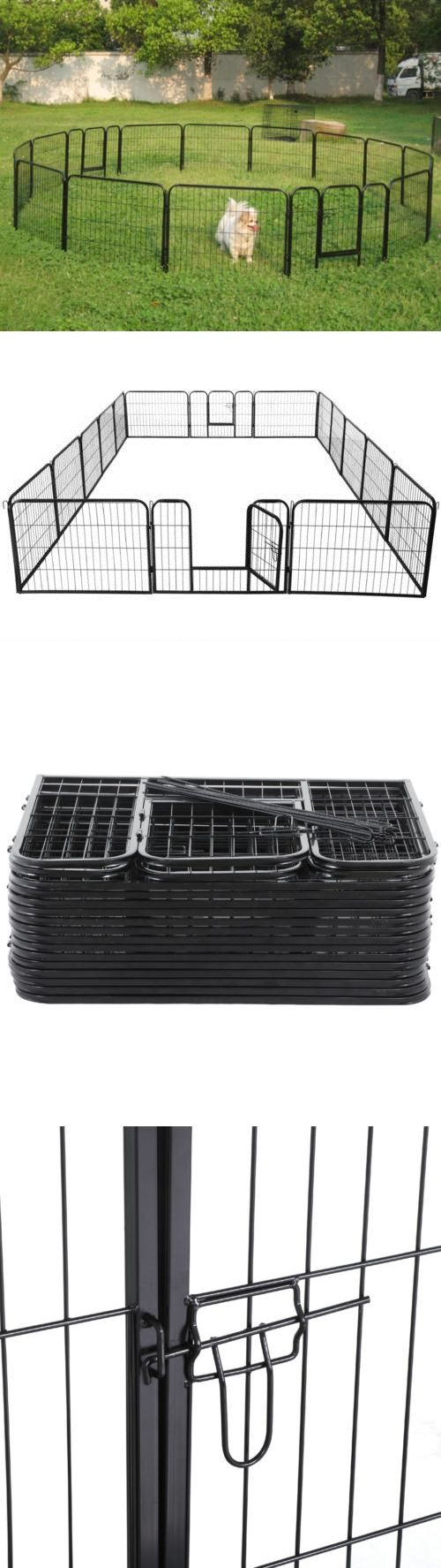 Fences and Exercise Pens 20748: Large 16 Panels Pet Dog Cat Metal Exercise Barrier Fence Playpen Kennel Yard New -> BUY IT NOW ONLY: $137.99 on eBay!