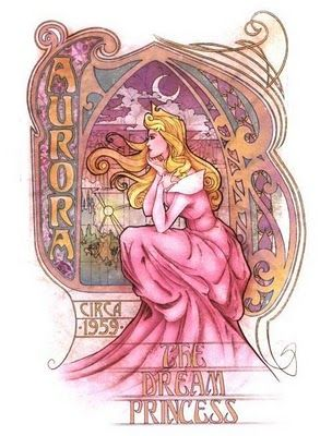 Art Nouveau AuroraSleeping Beauty, Sleep Beautiful, Enrique Pita, Disney Princesses, Disney Art, Princesses Aurora, Dreams Princesses, Art Nouveau Disney, Disneyprincess