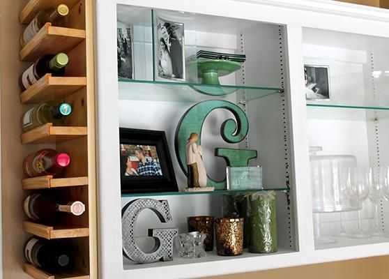 Furniture, You Can Put Your Wine In Diy Side Of Cabinet