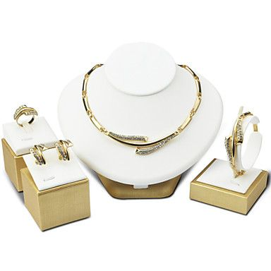 Women+Party+Alloy+Necklace+/+Earrings+/+Bracelet+/+Ring+Sets+–+USD+$+8.99