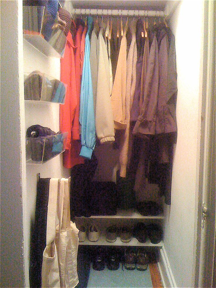 narrow, deep closet solution