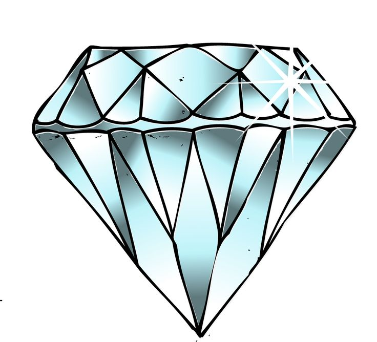 how to draw a realistic diamond