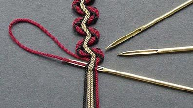 Gripfids for ply-split braiding by John Brockway.  Meander braid by Linda…