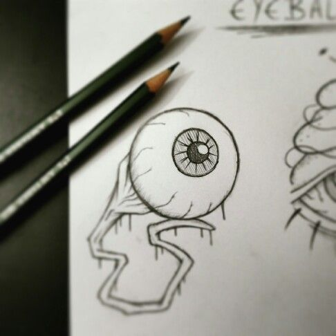 https://www.instagram.com/timmy.senf.illustration/ Creepy horror eyeball drawing faber castell artist art kunst zeichnung sketch skizze bloody
