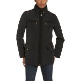 Jones New York Women's Diamond Quilted Double Breasted Jacket with Notch Collar, Black, Large (Apparel)By Jones New York