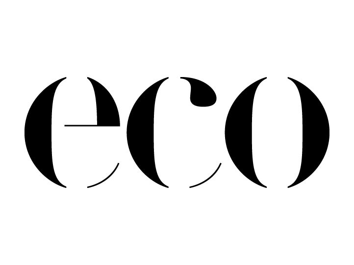 Eco is the first and only optical and sunglass collection made with 95% recycled materials. By combining the worlds of sustainability and fashion we redesigned the identity (including the logotype, communication and point-of-sales material).