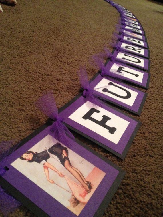 """Pin Up Girl Banner """"Future Mrs"""" on Etsy, $27.00 - ensemble lingerie, micro lingerie, wedding night lingerie *ad"""