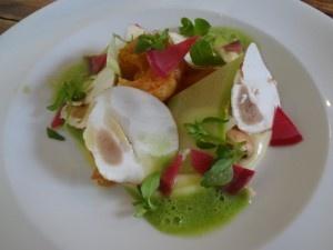 Panais, Parisien, Céleri, Crevette - Au restaurant de Romain Tischenko, - Le Galopin - le gagnant de la première édition de TopChef!