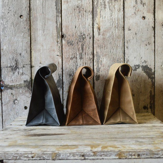 Marlowe Waxed Canvas Lunchbags