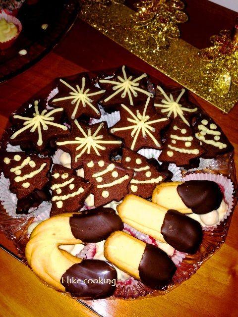 Stelle di Natale cacao e cioccolato bianco