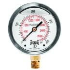 PFQ-LF 2.5 in. Lead-Free Brass Stainless Steel Liquid Filled Pressure Gauge with 1/4 in. NPT BTM and 0-400 psi/kPa