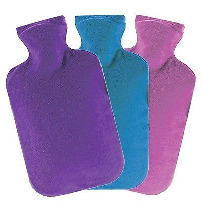 Hot Water Bottles and Covers: Velour Covered Hot Water Bottle (Assorted Colors) 2L Hot Water Bottle By Fashy -> BUY IT NOW ONLY: $42.27 on eBay!