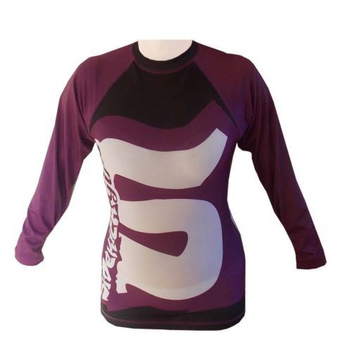 Sidekick Girls Ladies Womens MMA Long Sleeve Short Sleeve Rash Guard Purple Vest
