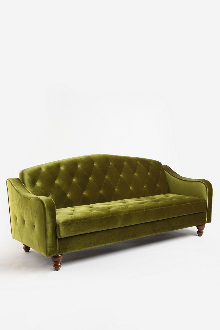 Olive.: Urbanoutfitters, Urban Outfitters, Velvet Tufted, Tufted Sleeper, Living Room, Sleeper Sofas, Sofa Bed, Ava Velvet, Ava Tufted