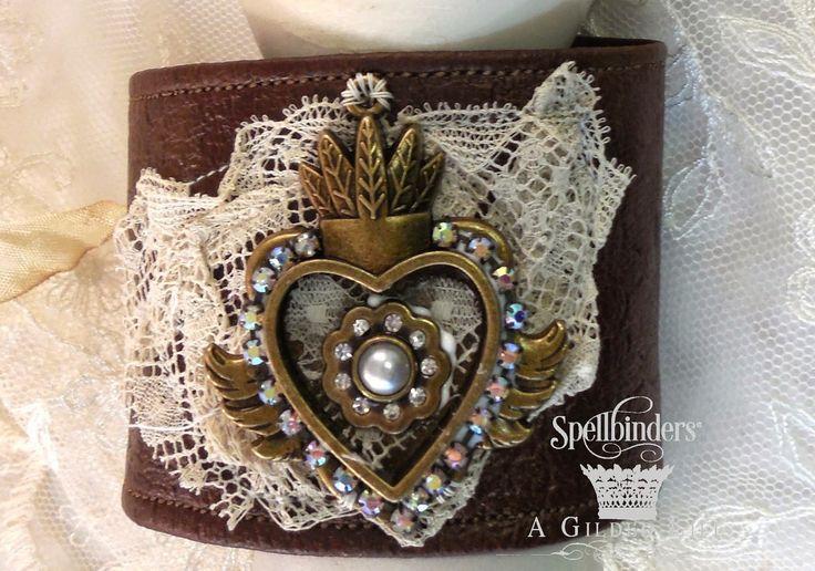 Leather & Lace cuff bracelet